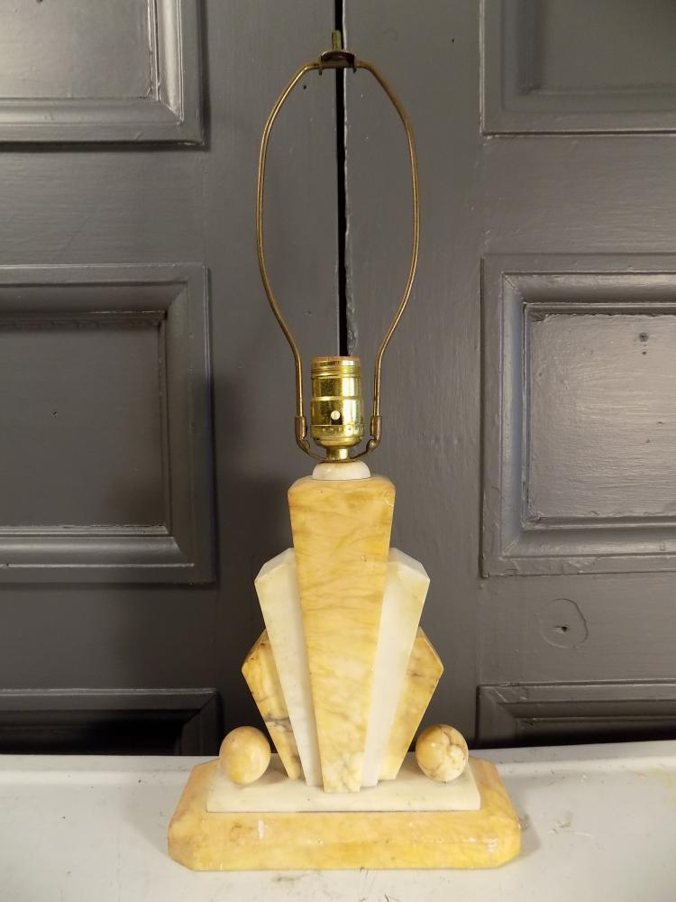 Alabaster Art Deco  Lamp