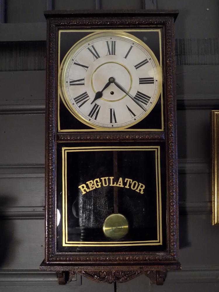Regulator Station Clock. Waterbury Clock Co.