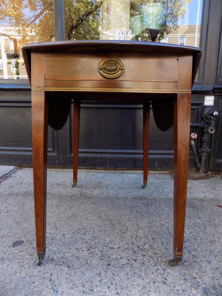 Hepplewhite Inlayed Pembroke Table.