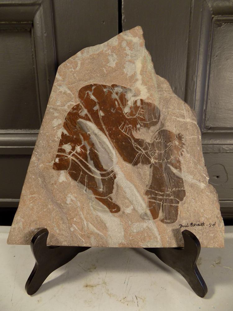David Bernett Carved Marble Plaque