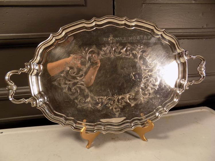 Silver Plated Serving Tray