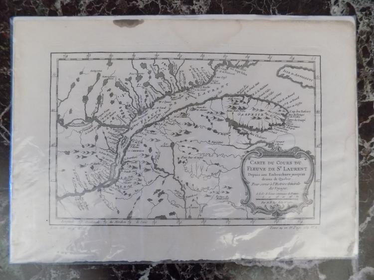 1757 Saint Laurence River Map