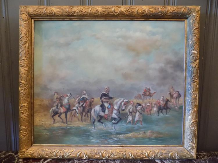 Orientalist Oil Painting Signed A. Rany
