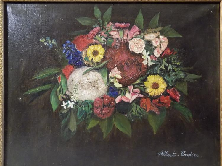 Albert Cordier Oil on Canvas Still Life