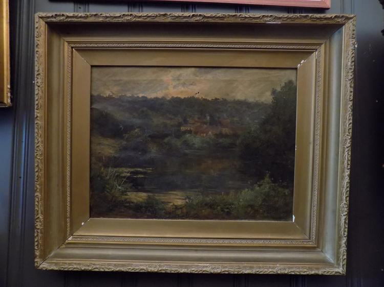 Oil Painting signed W. E. Berner