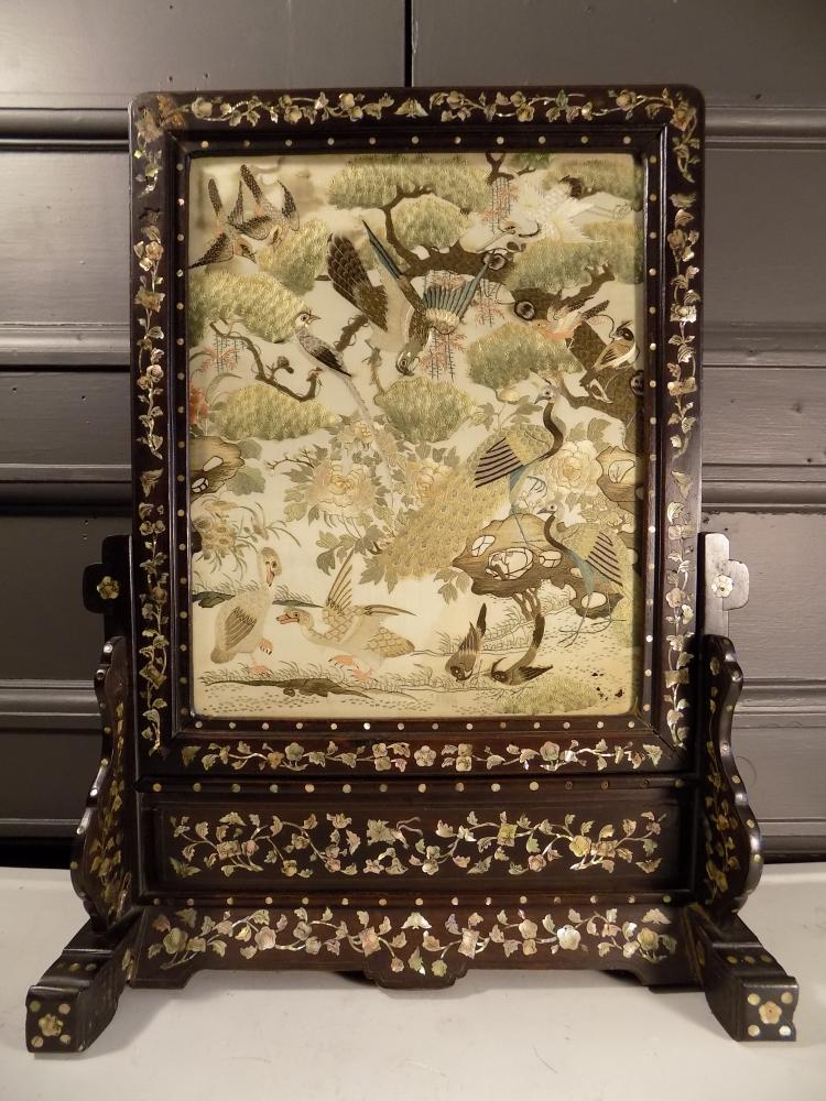 Antique Chinese Standing Screen
