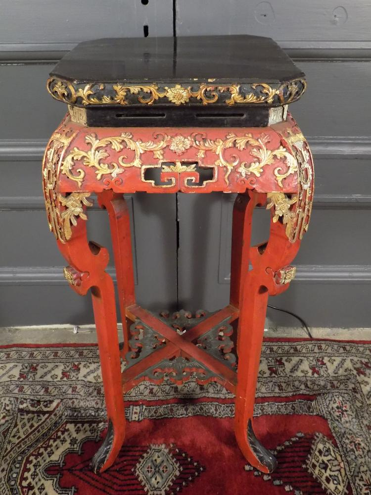 Antique Chinese Polychrome Incense Table