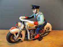 Very Rare TM Toys Cop on Motorcycle