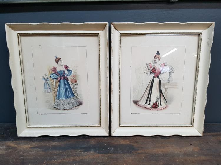 Pair of Paris Fashion Prints