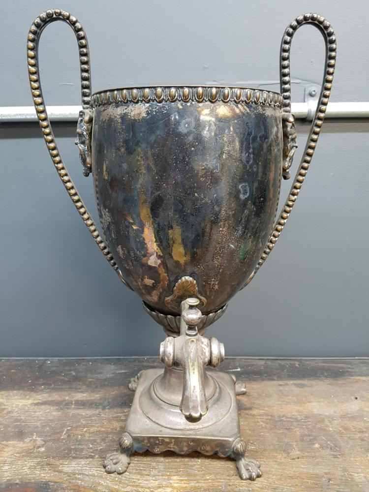 19th Century Samovar with Lions Paw Feet and Satyr Decorations