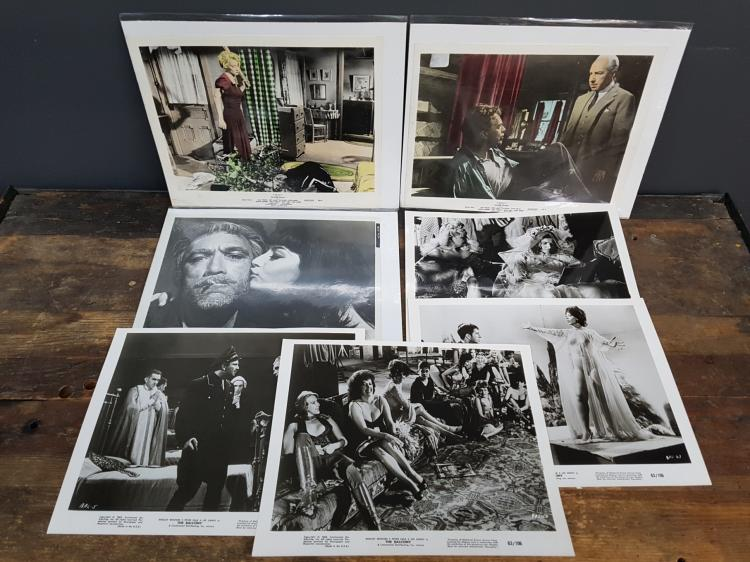 Lot of 7 Vintage Film Promotional Colored Photographs