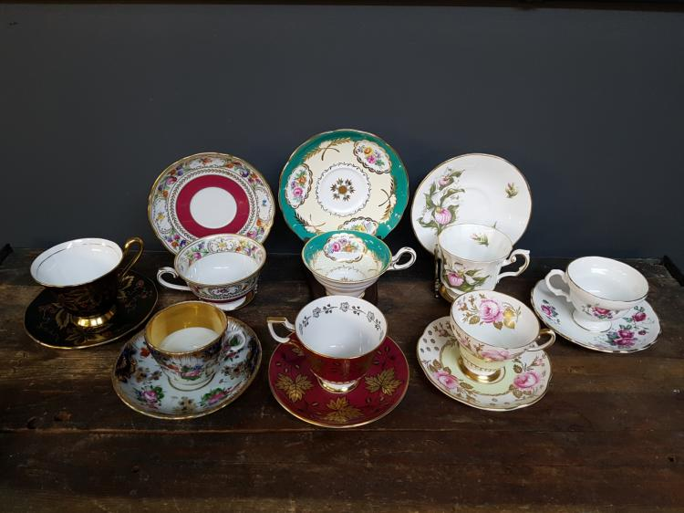 Lot of 8 Teacups