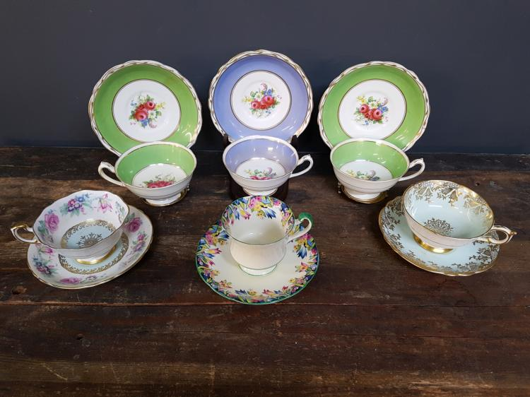 Lot of 6 Paragon Teacups and Saucers