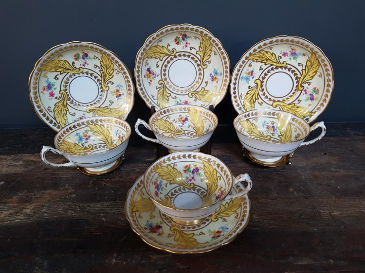 4 Paragon Teacups, Some wear