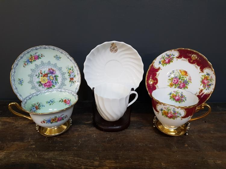 Lot of 3 Shelley Teacups and Saucers