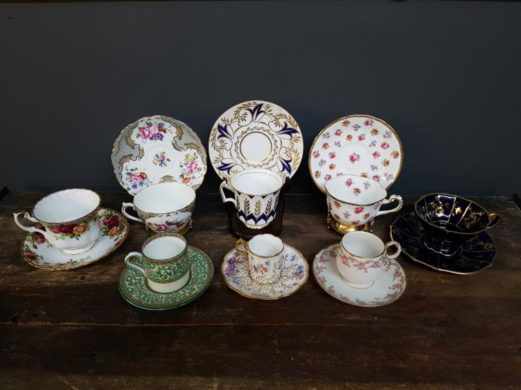 Lot of 8 Teacups and Saucers