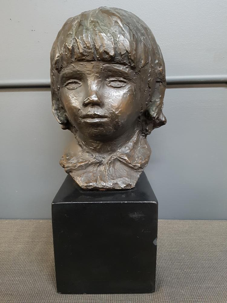 Alva Studios Bronzed Head Copy of Pierre Renoir