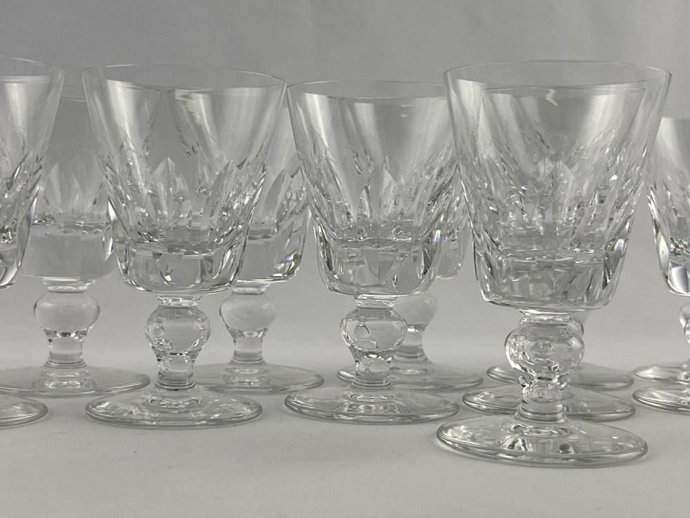 Set of 12 St. Louis French Cut Crystal Glasses