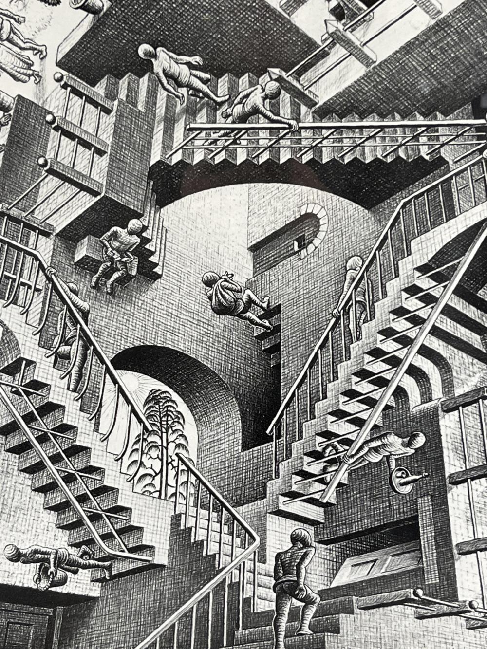 Vintage M. C. Escher Print, Relativity