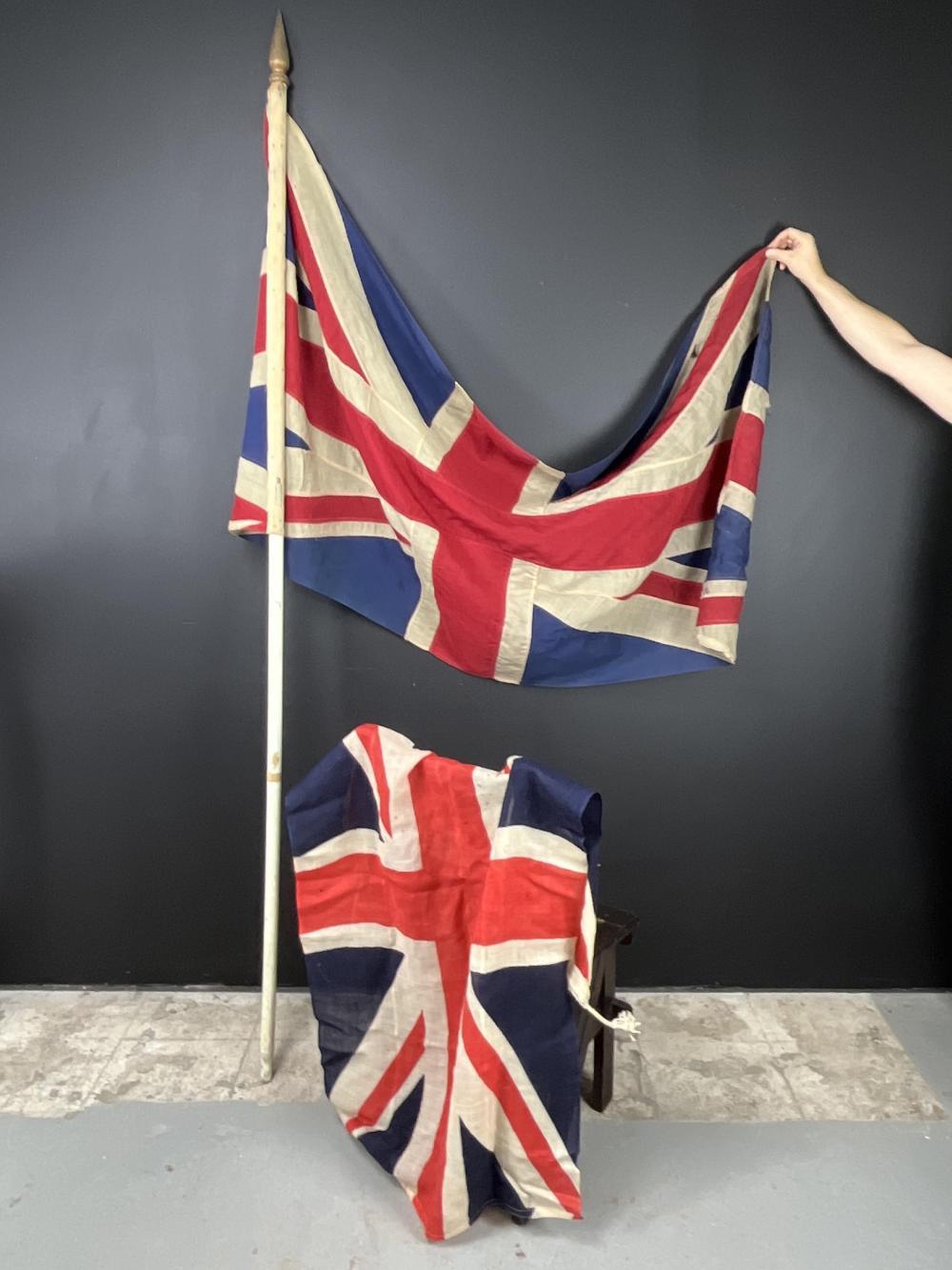 Lot Of vintage wool Union Jack Flags