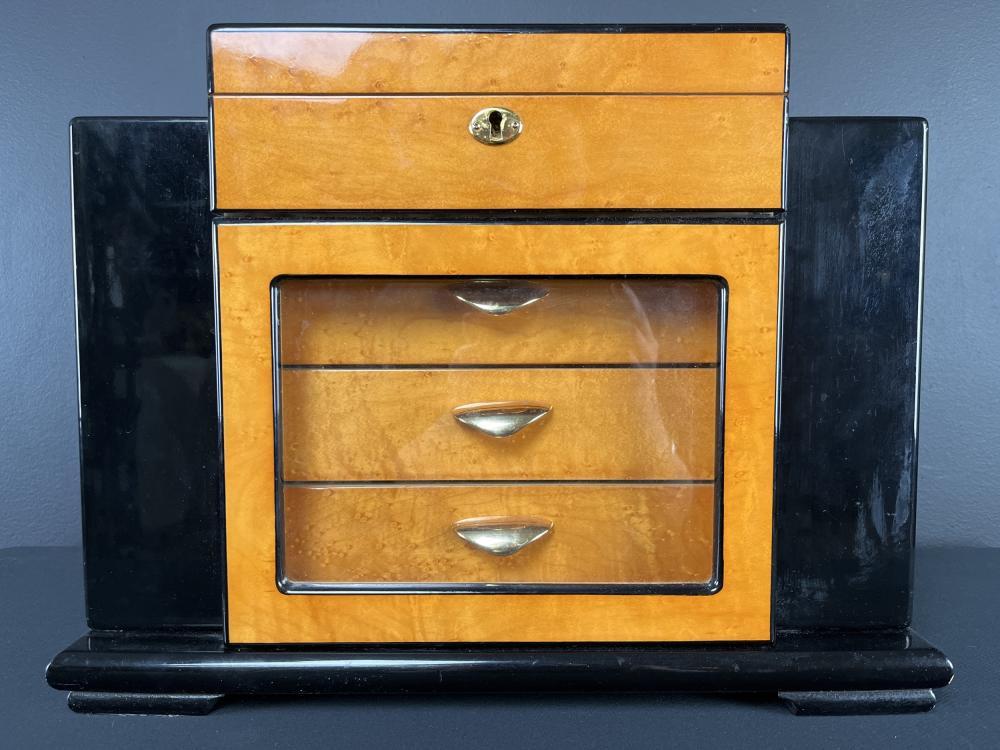 Art Deco Style Cabinet 200 Cigar Humidor