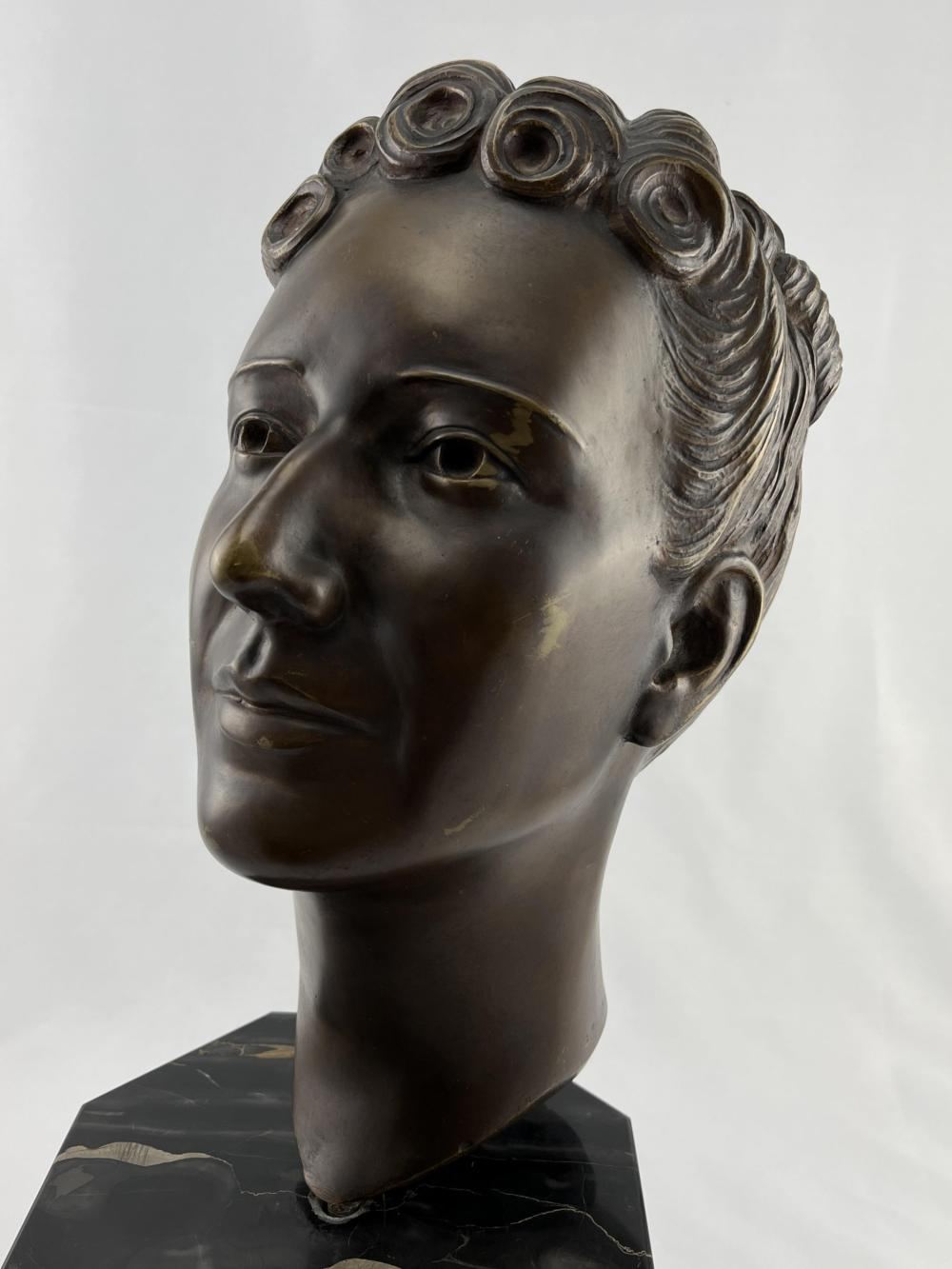 Bronze Bust Of A Woman, Mme. Emilie Beauchamp