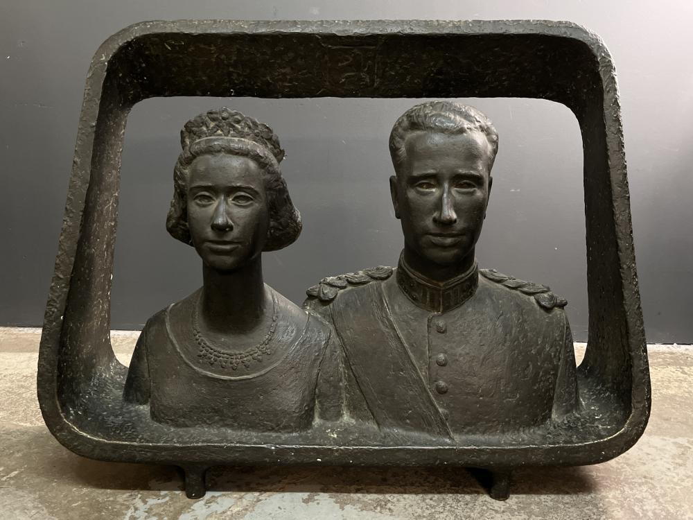 Mark Macken Bronze King Baudouin of Belgium and Queen Fabiola