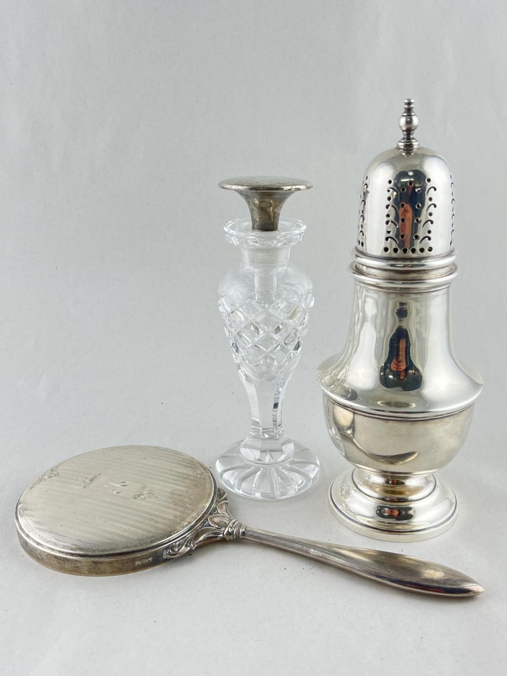 Lot Birks Sterling Items, Mirror Caster Perfume