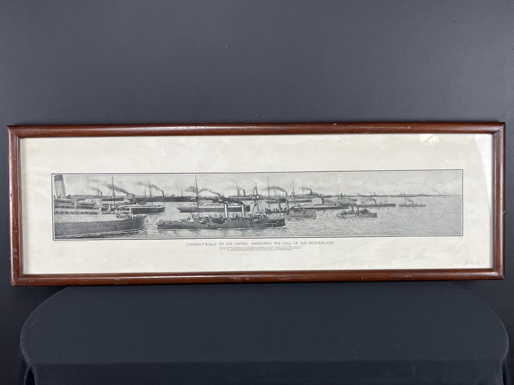 Ww1 Candian Army Battleship Panoramic Print 1914