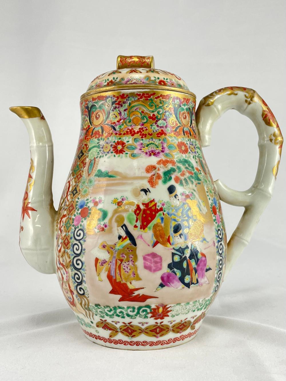 Fine Japanese Meiji Porcelain Teapot