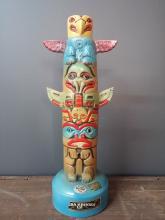 Vintage Totem Pole Bourbon Whisky Bottle 1972