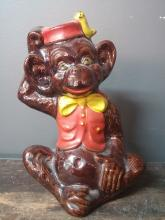 Mid-Century Ceramic Monkey Bank