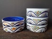 Bohemian Handpainted Cameo Glass Dishes