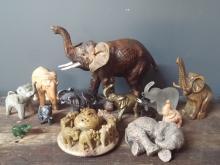 Lot of 13 Elephant Figurines