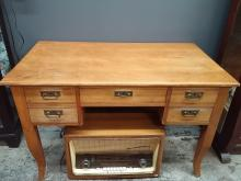 Antique Pine Desk with Arts and Crafts Hardware