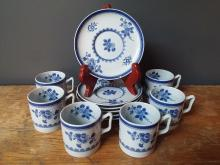 Set of 6 Spode Copeland Demitasse Cups and Saucers