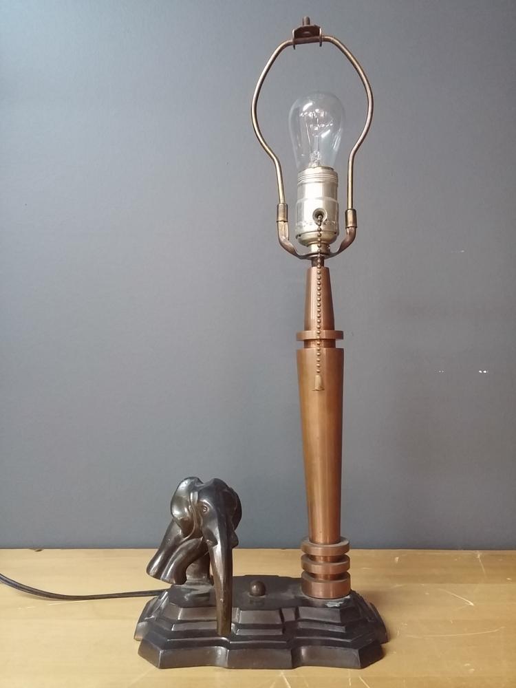 art deco elephant lamp. Black Bedroom Furniture Sets. Home Design Ideas