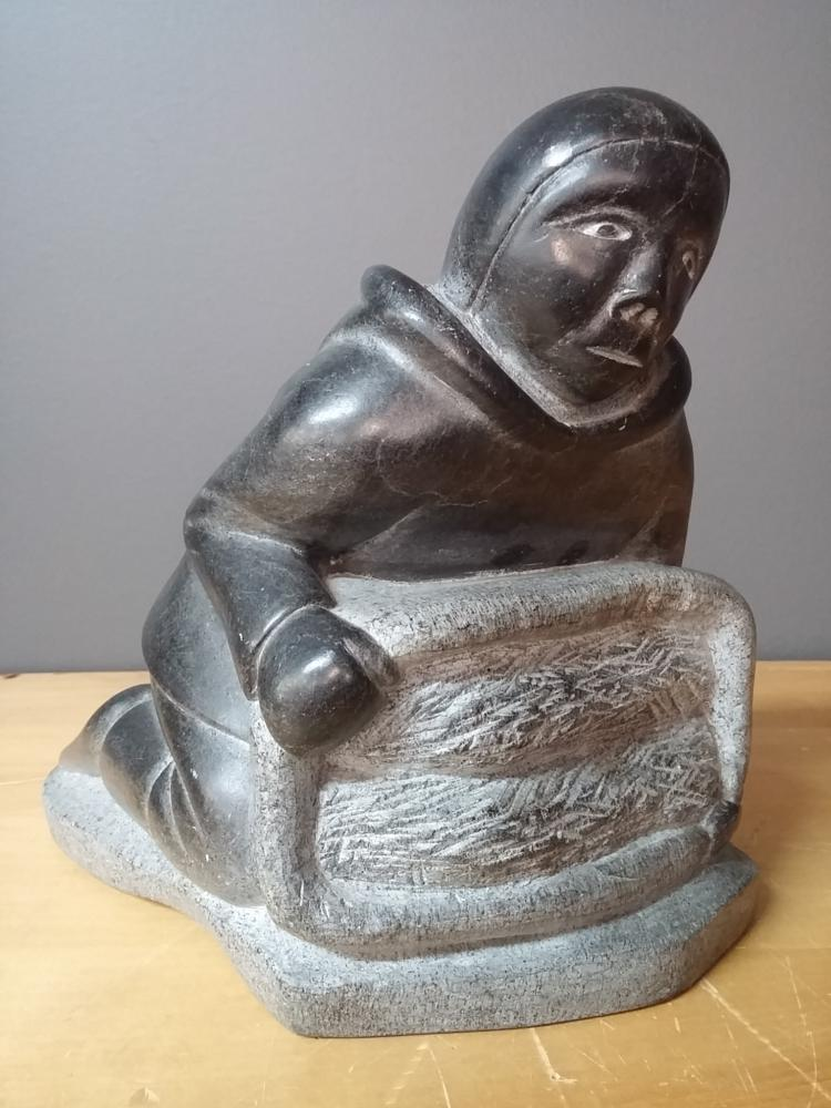 Very large soapstone carving