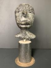 John Ivor Smith, Cast Stone Abstract Bust On Stand
