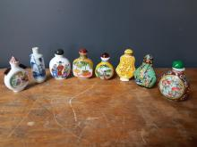 Lot of 8 Chinese Snuff Bottles