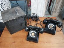 Set of Vintage Northern Electric Rotary Phones