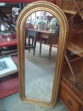Gilt Tombstone Mirror
