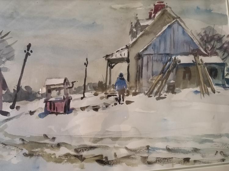 John Collins (1917-2007) Watercolor