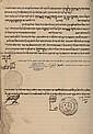 Emissary (Meshulach) Notebook of Rabbi Chaim Ya'akov Pardo - For Printing the Book Chasdei David - 1887-1896 - Important Signatures