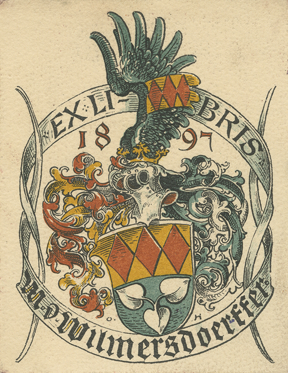 Collection of European Bookplates - Many Engravings of Nobility Coat of Arms - 17th to the 20th Century