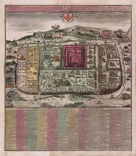 Map of Jerusalem - Engraving - Augsburg, 1745