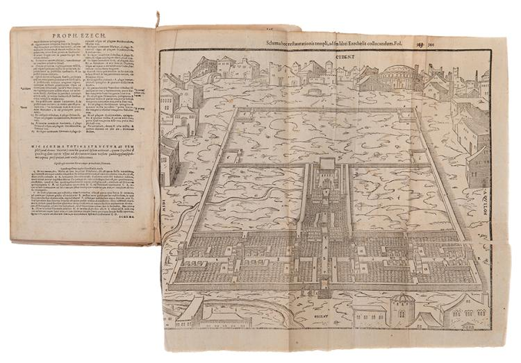 Bible Accompanied by Illustrations and Maps - Lyon, 1568 - Woodcuts