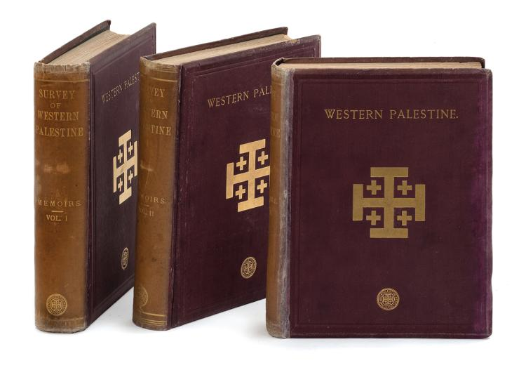 Books and a Set of Maps - Palestine Exploration Fund - London, 1880-1883