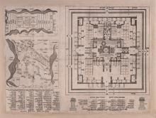Hebrew Maps of Palestine and a Plan of the Temple Interior - Livorno, 1780