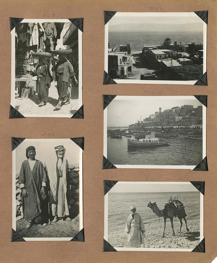 Album of Photographs from Palestine / Leaves with Descriptions of the Photographs